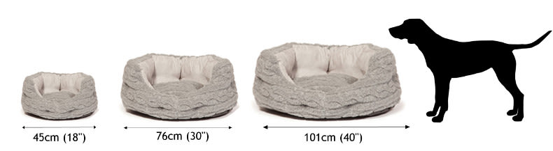 Avec ce luxeux panier Danish Design, offrez à votre chien un lit bien à lui  dont le coloris gris perle s adapte avec discrétion à tous les intérieurs. da7ec2e5874