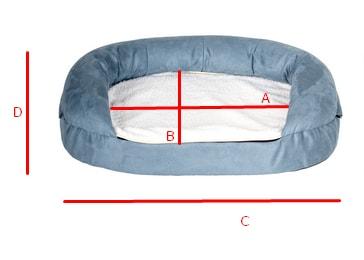 ZOOSHOP.ONLINE - Интернет-магазин зоотоваров - Oeko-bed ортопедическая кровать для собак  Oval Memory Foam 100 x 65 x 22 см