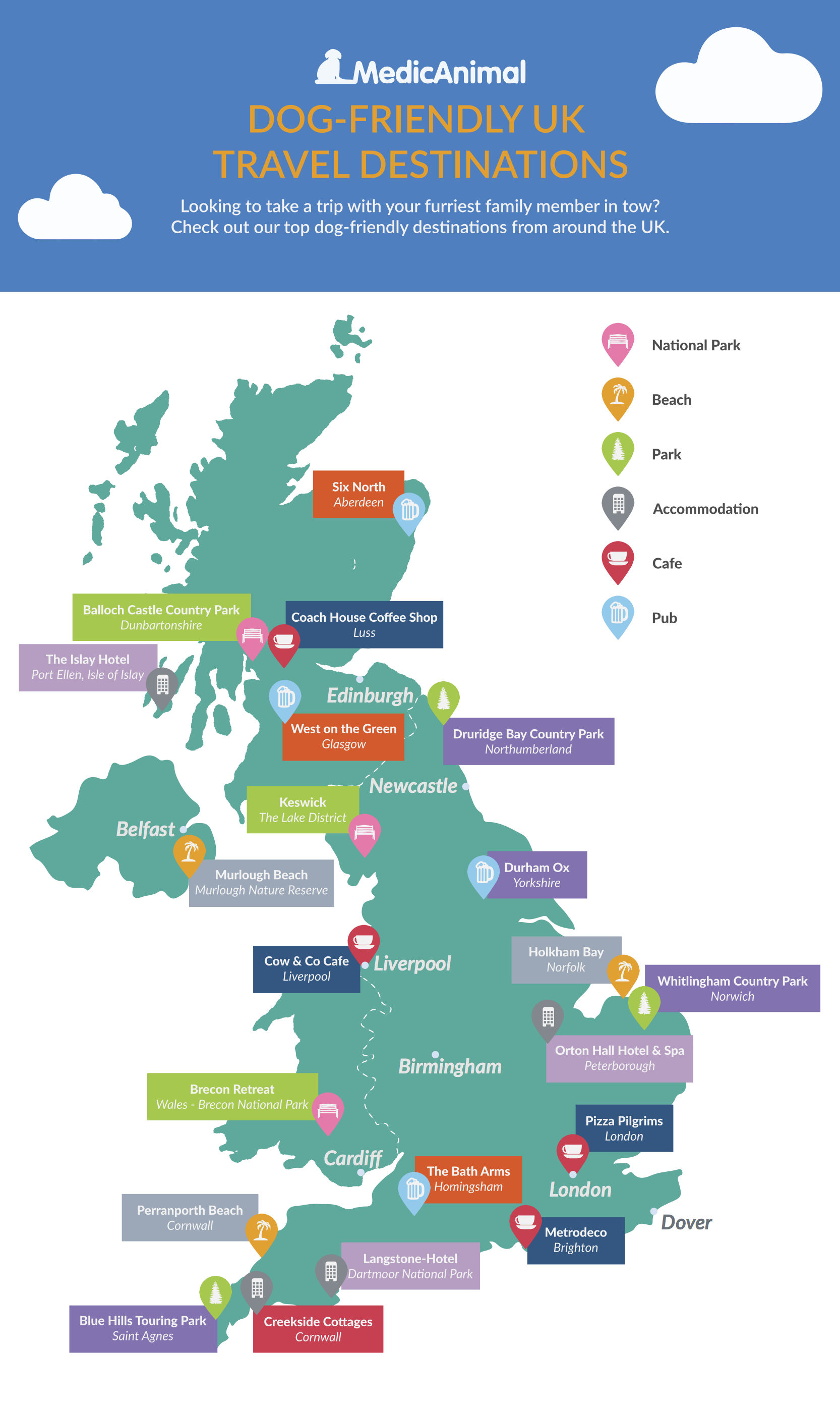 Infographic dog holidays uk