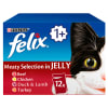 Felix Adult Cat Food Meat Selection in Jelly