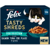 Felix Tasty Shreds Cat Food Fish Selection in Gravy