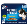 Felix As Good As It Looks Senior Wet Cat Food - Fish Selection in Jelly