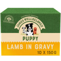 James Wellbeloved Puppy/Junior Wet Dog Food Pouches - Lamb & Rice in Gravy