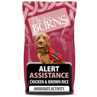 Burns Alert Assistance Adult/Senior Dry Dog Food - Chicken & Brown Rice