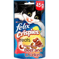 Felix Crispies Adult Cat Treats - Chicken & Beef