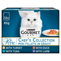 Les filettines en sauce GOURMET® Perle pour chat adulte  Collection Connaisseur – Sachets fraîcheur