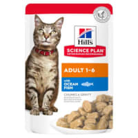 Hills Adult Tender Chunks (Kip of Zeevis) voor katten