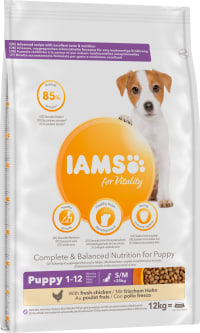 Iams Vitality Puppy Small/Medium Breed Upto 1 Year Dry Dog Food - Fresh Chicken