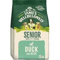 James Wellbeloved Senior Adult Dry Dog Food - Duck & Rice