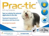 Prac-Tic Flea & Tick Treament for Large Dogs (22-50kg)