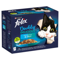 Purina Felix Doubly Delicious Adult Wet Cat Food - Fish Selection in Jelly