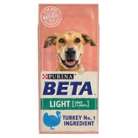 Purina BETA Adult Light met Kalkoen en Rijst 14kg
