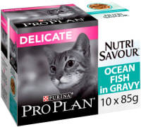 Purina Pro Plan NutriSavour Delicate Adult Wet Cat Food - Ocean Fish in Gravy