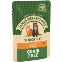 James Wellbeloved Grain Free Senior Cat Wet Food Pouch - Turkey