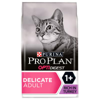 Purina Pro Plan Delicate Optirenal Rich Adult Cat Dry Food - Turkey & Rice