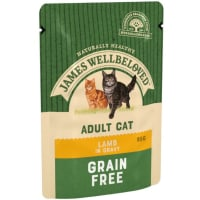 James Wellbeloved Grain Free Adult Cat Wet Food Pouch - Lamb in Gravy