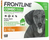 Frontline Combo pour Petit Chien (2-10kg)