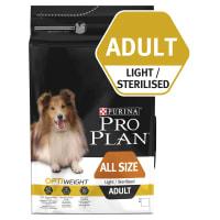 Purina Pro Plan Adult Dog Light or Sterilised  Chicken