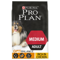 Purina Pro Plan Opti Balance Medium Adult Dry Dog Food - Chicken