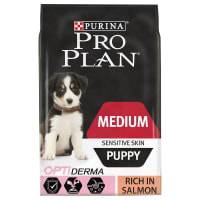 Purina Pro Plan Opti Derma Sensitive Skin Medium Puppy Dry Dog Food - Salmon