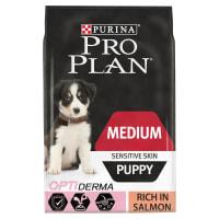 Purina Pro Plan Opti Derma Sensitive Skin Medium Puppy Dry Dog Food - Salmon