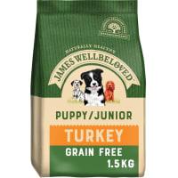 James Wellbeloved Puppy/Junior Grain Free Turkey & Vegetable