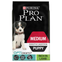 PRO PLAN Dog Medium Puppy Sensitive Digestion with OPTIDIGEST Rich in Lamb Dry Dog Food