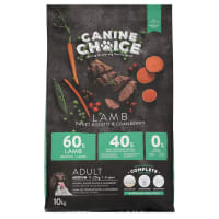 Canine Choice Grain Free Medium Adult Dry Dog Food - Lamb