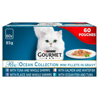 Gourmet Perle Cat Food Ocean Collection 60x85g