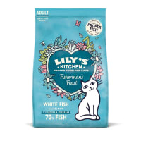 Lily's Kitchen Adult Fishermans Feast Dry Cat Food - White Fish & Salmon