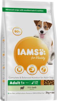 IAMSforVitality Futter mit Lamm für erwachsene Hunde kleiner/mittelgroßer Rassen