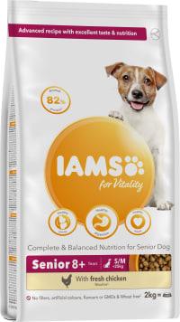 IAMSforVitality Futter mit Hühnchen für ältere Hunde kleiner/mittelgroßer Rassen