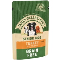 James Wellbeloved Grain Free Senior Turkey Wet Dog Food Pouch