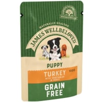 James Wellbeloved Grain Free Turkey Pouch Puppy Dog
