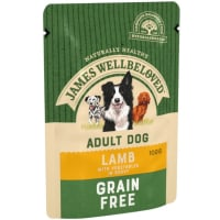 James Wellbeloved Grain Free Adult Wet Dog Food Pouches - Lamb in Gravy