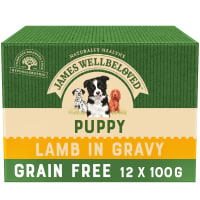 James Wellbeloved Grain Free Puppy Wet Dog Food Pouches - Lamb in Gravy