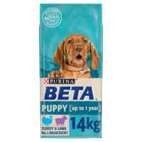 BETA Puppy Dry Dog Food with Turkey And Lamb 14kg