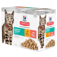 Hill's Science Plan Perfect Weight Adult 1-6 Wet Cat Food Pouches - Delicious Selection