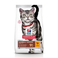 Hill's Science Plan Hairball Indoor Adult 1-6 Dry Cat Food - Chicken