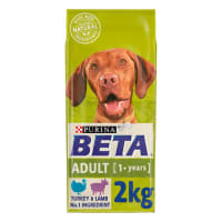 BETA Adult Dry Dog Food with Turkey & Lamb 2kg