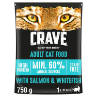 Crave Adult Dry Cat Food - Salmon & Fresh Whitefish