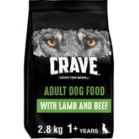 Crave Natural Grain Free Adult Dry Dog Food - Lamb & Beef