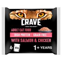 Crave Pastete mit Lachs & Huhn für Katzen