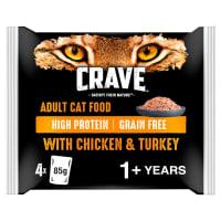 Crave Pastete mit Huhn & Truthahn für Katzen