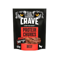 Crave Protein Chunks Natural Adult Dog Treat - Beef