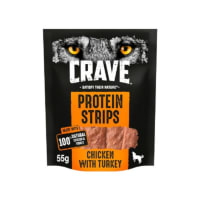 Crave Turkey & Chicken Protein Strips Dog