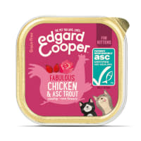 Edgard & Cooper Grain Free Fabulous Free-Run Chicken & ASC Trout Wet Cat Food Kitten