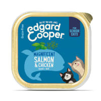 Edgard & Cooper Grain Free Magnificent Salmon & Chicken Cat Food Cup Senior