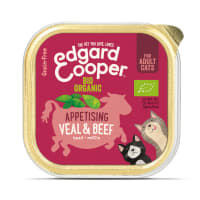 Edgard & Cooper Grain Free Bio Organic Appetising Veal & Beef Cat Food Cup Adult