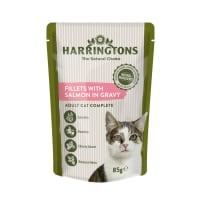 Harringtons Complete Adult Cat Wet Food - Salmon in Gravy